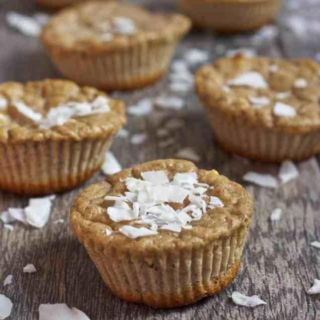 Coconut Gingerbread Protein Muffins | Healthy Helper @Healthy_Helper