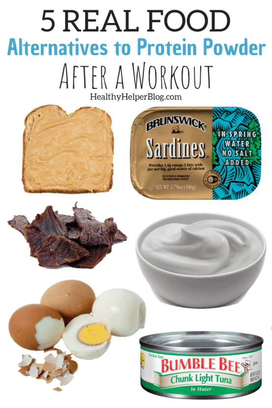 5 REAL FOOD Alternatives to Protein Powder After a Workout   Do you immediately supplement with protein powders after a workout? STOP. Next time, reach for real food sources of this essential macronutrient. Real food = better fuel and better recovery. No need to buy expensive, processed supplements when nature has everything for you!