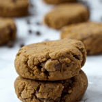 High Fiber Chocolate Chip Cookies | Healthy Helper @Healthy_Helper Soft baked, high-fiber chocolate chip cookies made with oat fiber and no added sugar! Vegan, gluten-free, and so yummy for when you're craving a little something sweet!