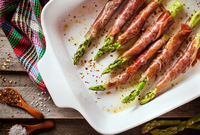 Baked Haddock with Prosciutto Wrapped Asparagus | Healthy Helper @Healthy_Helper