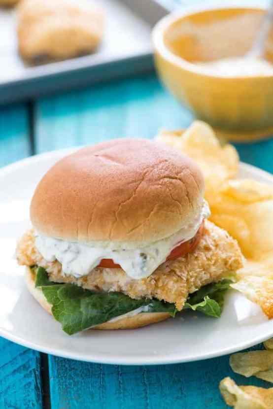 Baked Fish Fillet Sandwiches | Healthy Helper @Healthy_Helper
