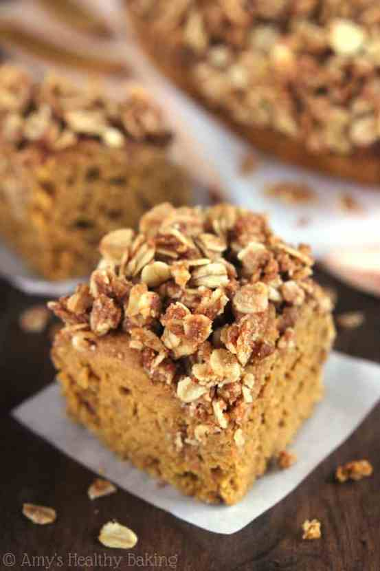 Slow Cooker Pumpkin Streusel Coffee Cake | Healthy Helper @Healthy_Helper