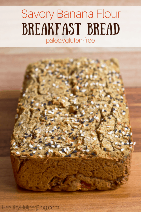 Savory Banana Flour Breakfast Bread | Healthy Helper @Healthy_Helper A savory breakfast bread sensation! This unique loaf is paleo, gluten-free, and full of amazing ingredients. Made with starchy green banana flour, this is a breakfast that will satisfy your tastebuds and keep you going all day long!