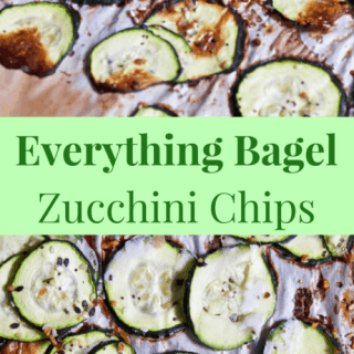 3 Ingredient Everything Bagel Zucchini Chips [gluten-free + paleo] | Healthy Helper @Healthy_Helper A light, delicious side dish full of vegetables for your favorite comfort food entree. No need for bread or grains to make these deliciously savory Everything Bagel Zucchini Chips! Gluten-free, paleo, and high protein.
