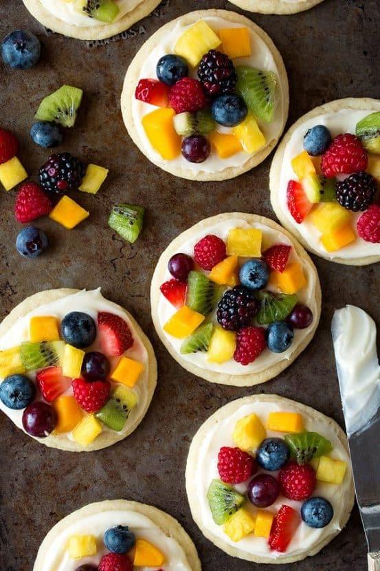 Sugar Cookie Fruit Pizzas | Healthy Helper @Healthy_Helper