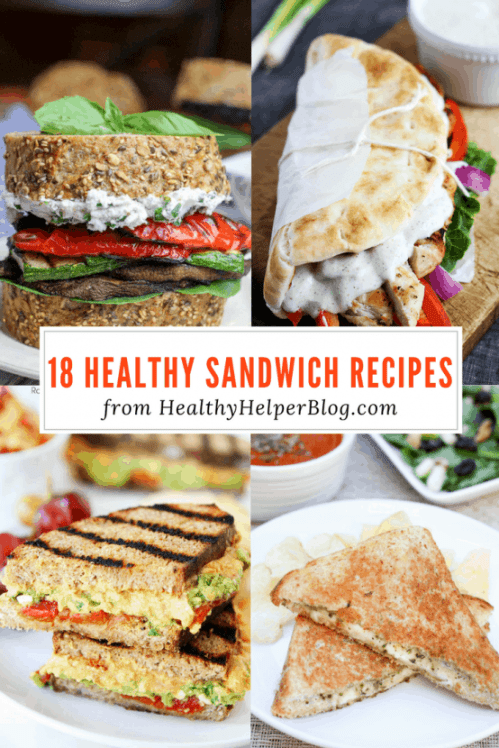 18 Healthy Sandwich Recipes | Healthy Helper @Healthy_Helper Celebrate NATIONAL SANDWICH MONTH with 18 Healthy Sandwich Recipes! The ultimate roundup of wholesome and clean sandwich recipes to pack for lunch, bring on your next picnic, or eat for a quick meal.