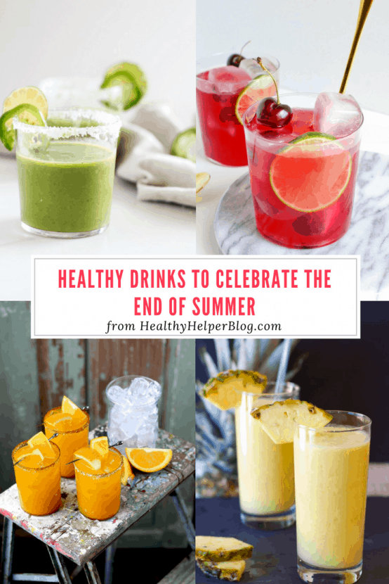 12 Healthy Drinks to Celebrate the End of Summer | Healthy Helper @Healthy_Helper Say 'so long' to the season with these healthy beverages that were made for summer sipping! Refreshing, light, and made with wholesome ingredients, you'll want to reach for these drinks for your next get together with friends or nightly treat!