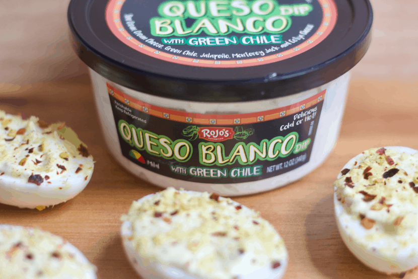 Southwestern Queso Blanco Deviled Eggs | Healthy Helper @Healthy_Helper Classic deviled eggs made cheesy and creamy with delicious Queso Blanco! These gluten-free, high protein appetizers are FULL of zesty southwestern flavor and are incredibly easy to make. Perfect for your next holiday party or get-together!