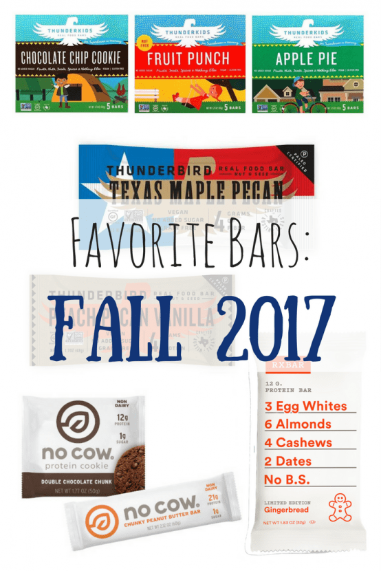 Favorite Bars: Fall 2017 | Healthy Helper @Healthy_Helper A roundup of my favorite bars for Fall 2017. New releases from my favorite brands! Vegan, paleo, and gluten-free options for everyone to enjoy.