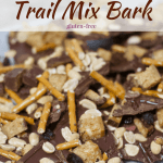 Chocolate Peanut Butter Trail Mix Bark [wheat-free]