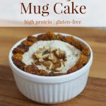 Lemon Meringue Pie Mug Cake [gluten-free + high protein]