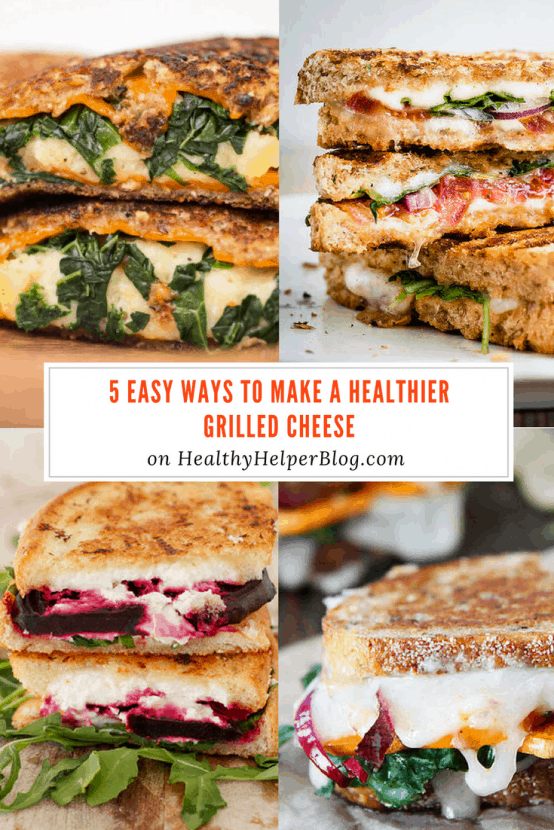 5 Easy Ways to Make a Healthier Grilled Cheese   Healthy Helper @Healthy_Helper A roundup of my go-to food tips to take a classic grilled cheese sandwich to the next level! Healthy food hacks that are simple and delicious.