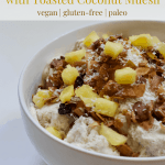 No-Churn Pina Colada Ice Cream with Toasted Coconut Muesli [vegan + gluten-free]