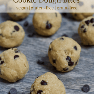 4 Ingredient Chocolate Chip Cookie Dough Bites | Healthy Helper Simple bites with all the flavor and texture you love about raw cookie dough without any added sugar or animal products. Vegan, gluten-free, and grain-free, these bites will be your new favorite way to squash any cookie dough cravings.