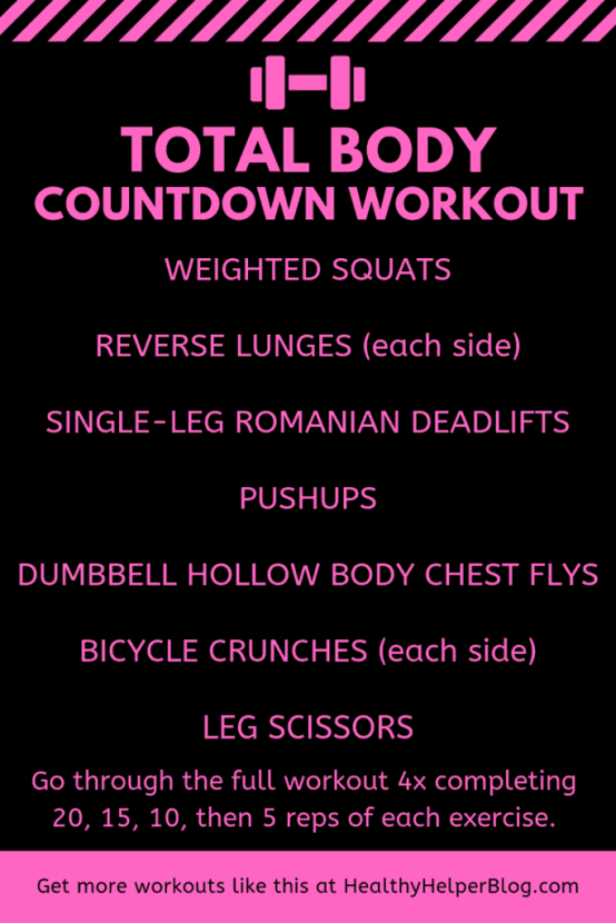 Total Body Countdown Workout | Healthy Helper