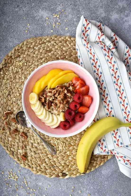 Instant Pot Maple Pecan Oatmeal | Healthy Helper