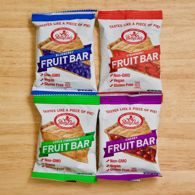 Betty Lou's Fruit Bars - 4 Ways | Four fun, delicious ways to dress up Betty Lou's Fruit Bars with all your favorite toppings. Vegan, gluten-free, and perfect for when you're craving a slice of pie without all the sugar, fat, and calories!