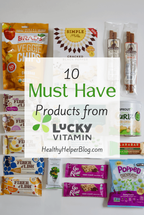 10 MUST HAVE Products from LuckyVitamin | A roundup of my FAVORITE products available for purchase online from LuckyVitamin! Healthy, wholesome products conveniently delivered to your door for affordable prices.