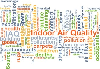 Background concept wordcloud illustration of healthy indoor air quality