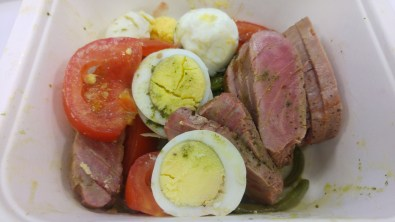 LUNCH: Nicoise salad with tuna
