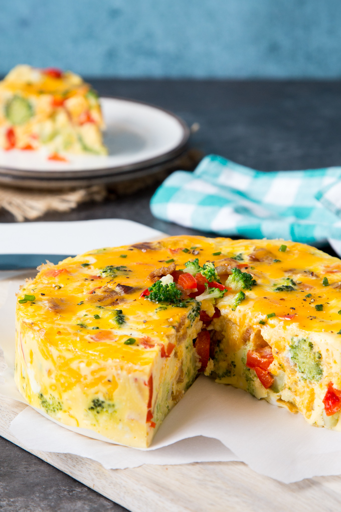 Healthy Breakfast- Instant Pot Broccoli + Cheese Fritatta