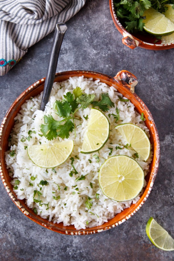 Instant Pot Cilantro Lime Rice {Chipotle Copycat}