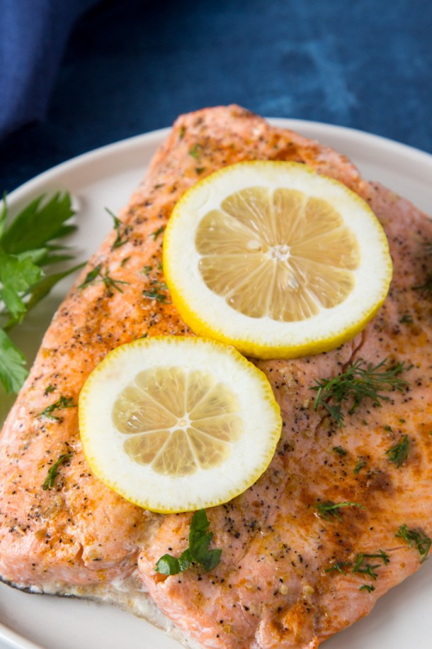 Instant Pot Lemon Pepper + Dill Salmon