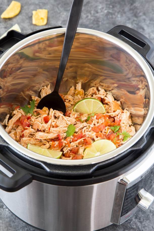Shredded Salsa Chicken {Instant Pot}