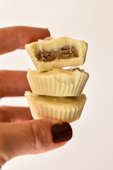 Salted White Chocolate Sunflower Seed Butter Cups