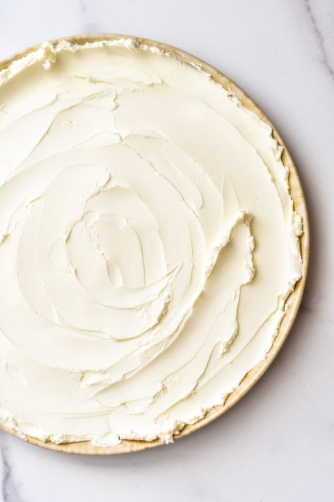 cream cheese spread on a plate