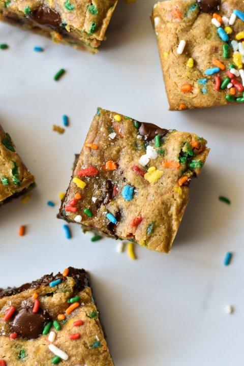 Vegan Blondies with Sprinkles