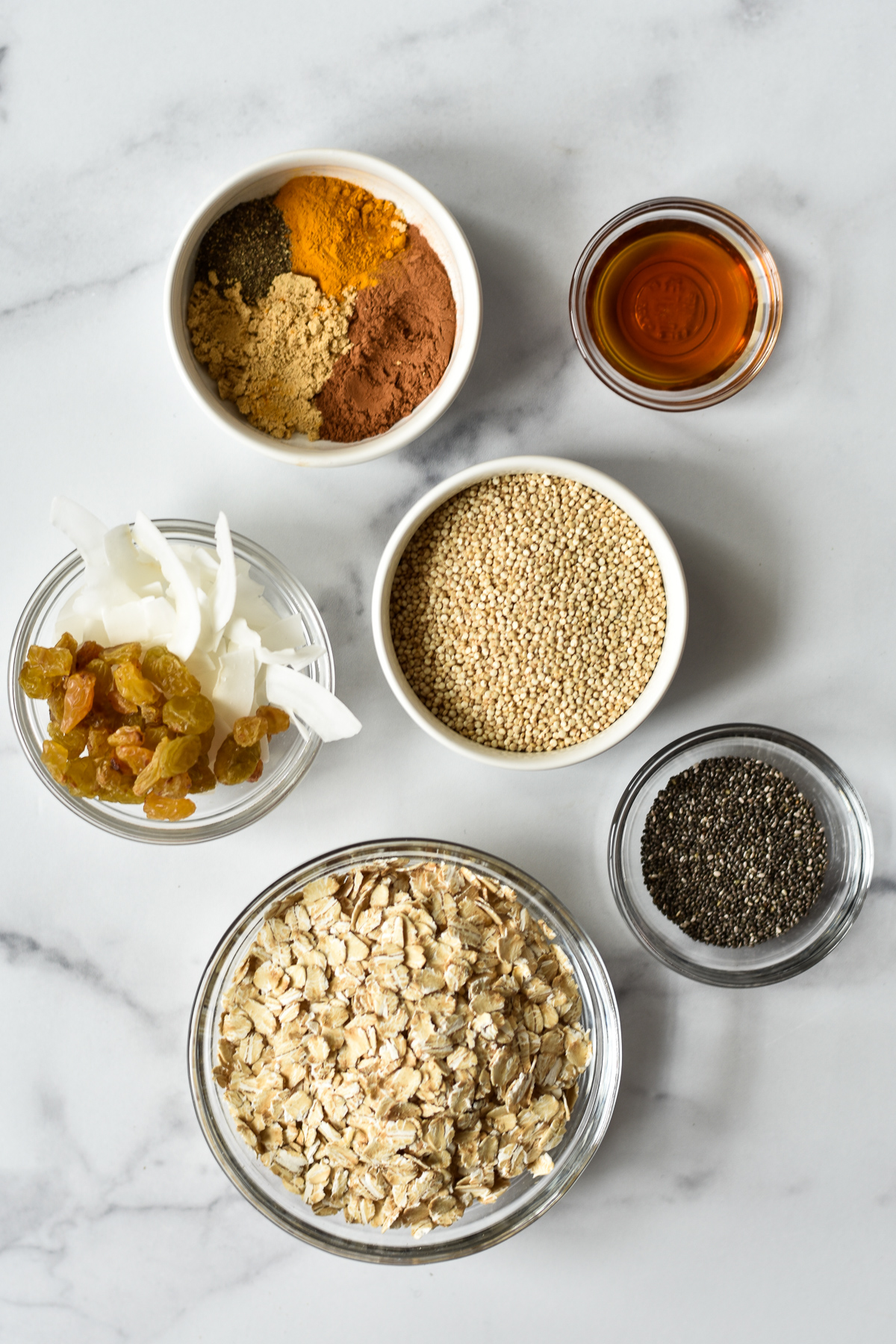 ingredients for turmeric black pepper granola