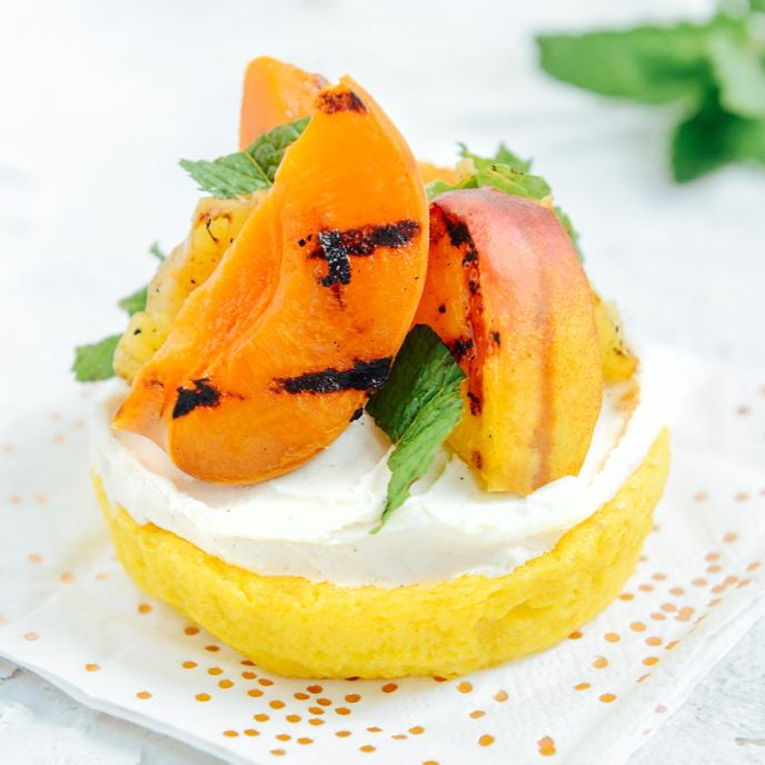 Grilling Fruit for Healthy'ish Cakes // www.HealthyishFoods.com
