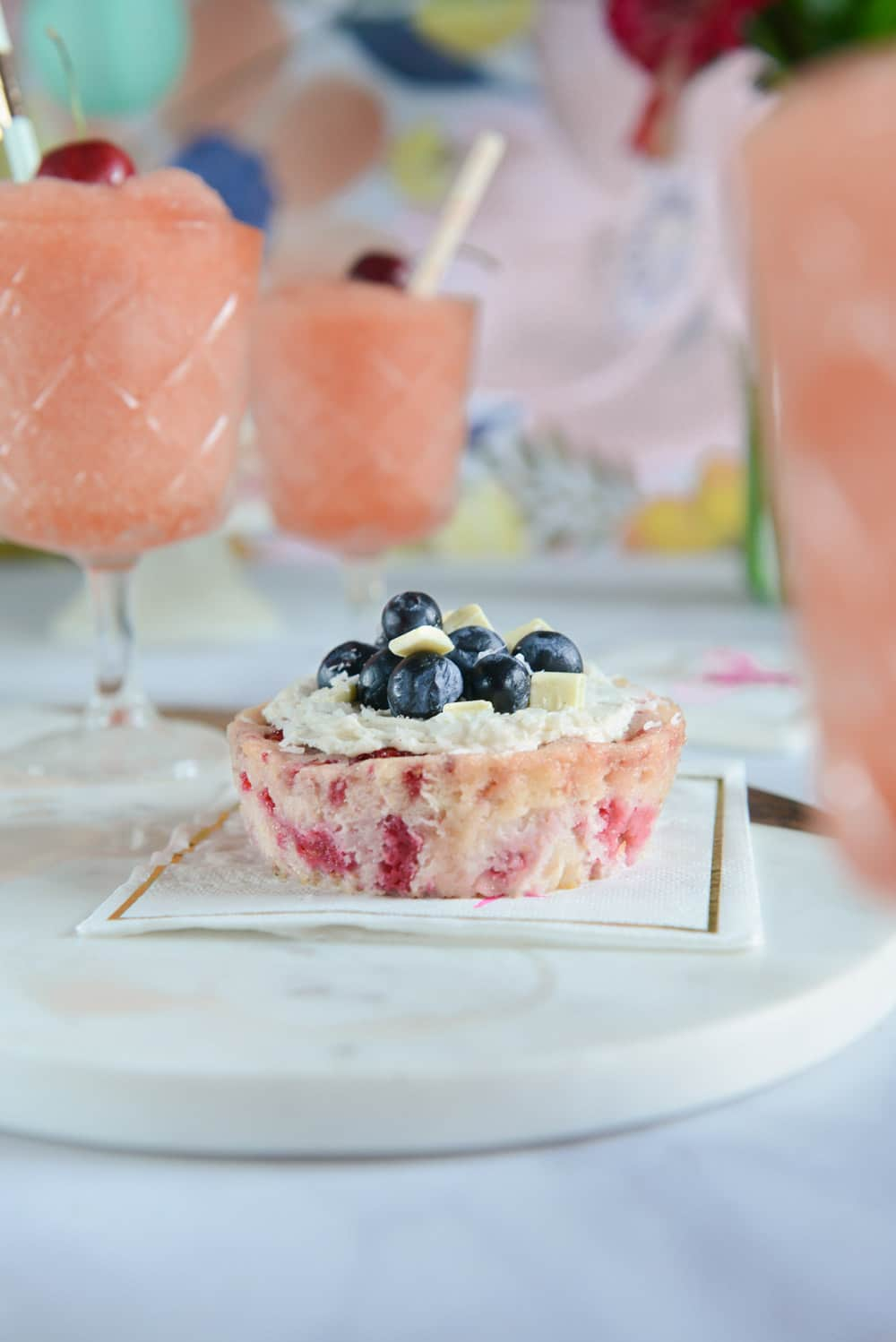 Frozen Rosé Wine (Frosé) and Berry Cakes for the 4th of July via HealthyishFoods.com