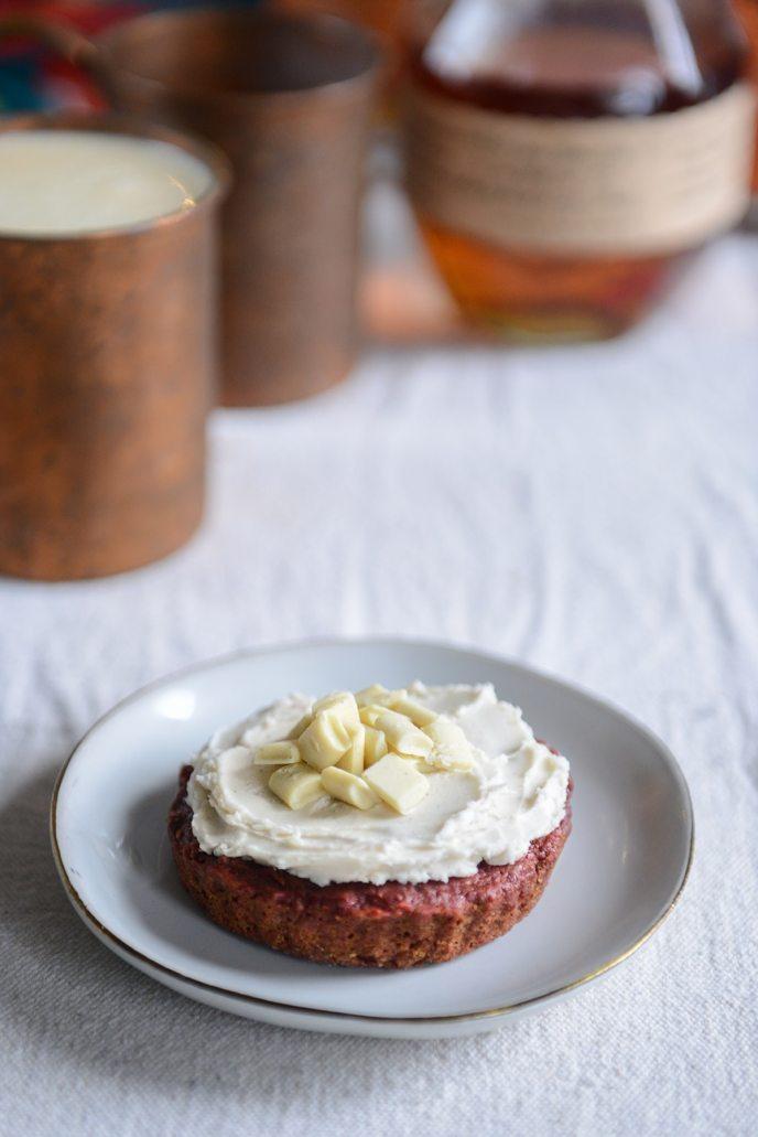 Homemade Egg Nog and Healthyish Red Velvet Cake via HealthyishFoods.com