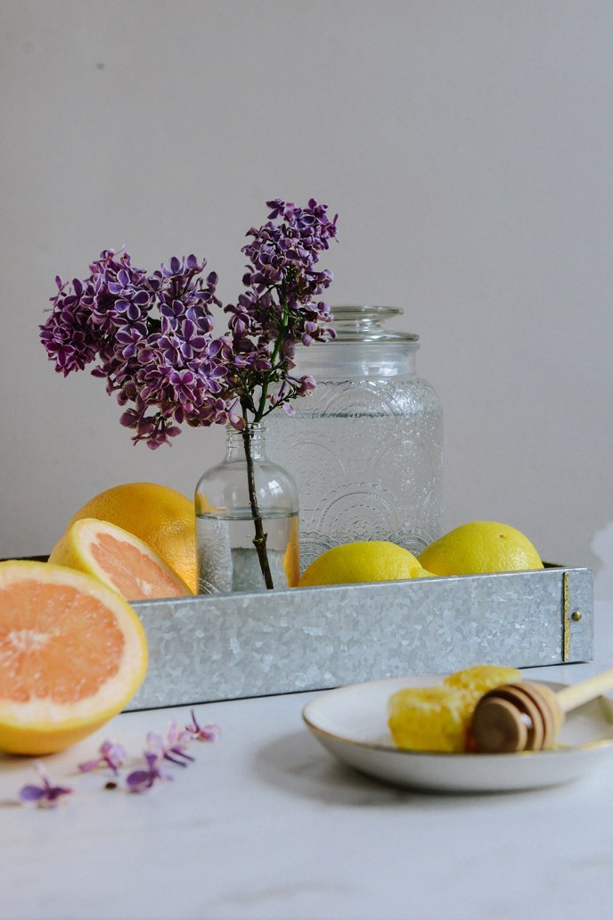 Fermented Honey Lilac Drink for Allergy Season // www.HealthyishFoods.com