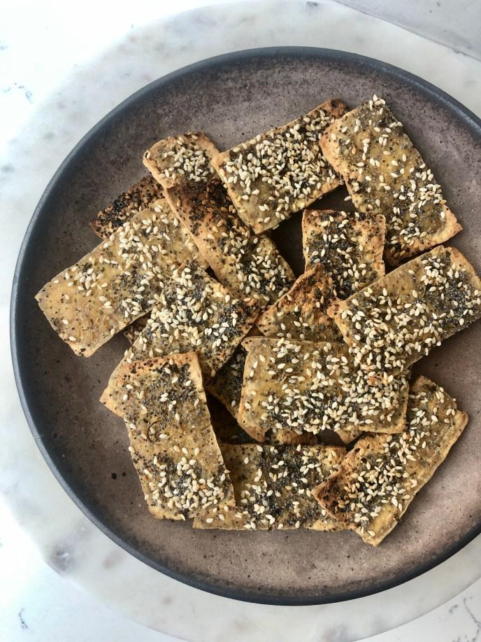 2 Ingredient Gluten Free Tofu Crackers, Healthyish Brand