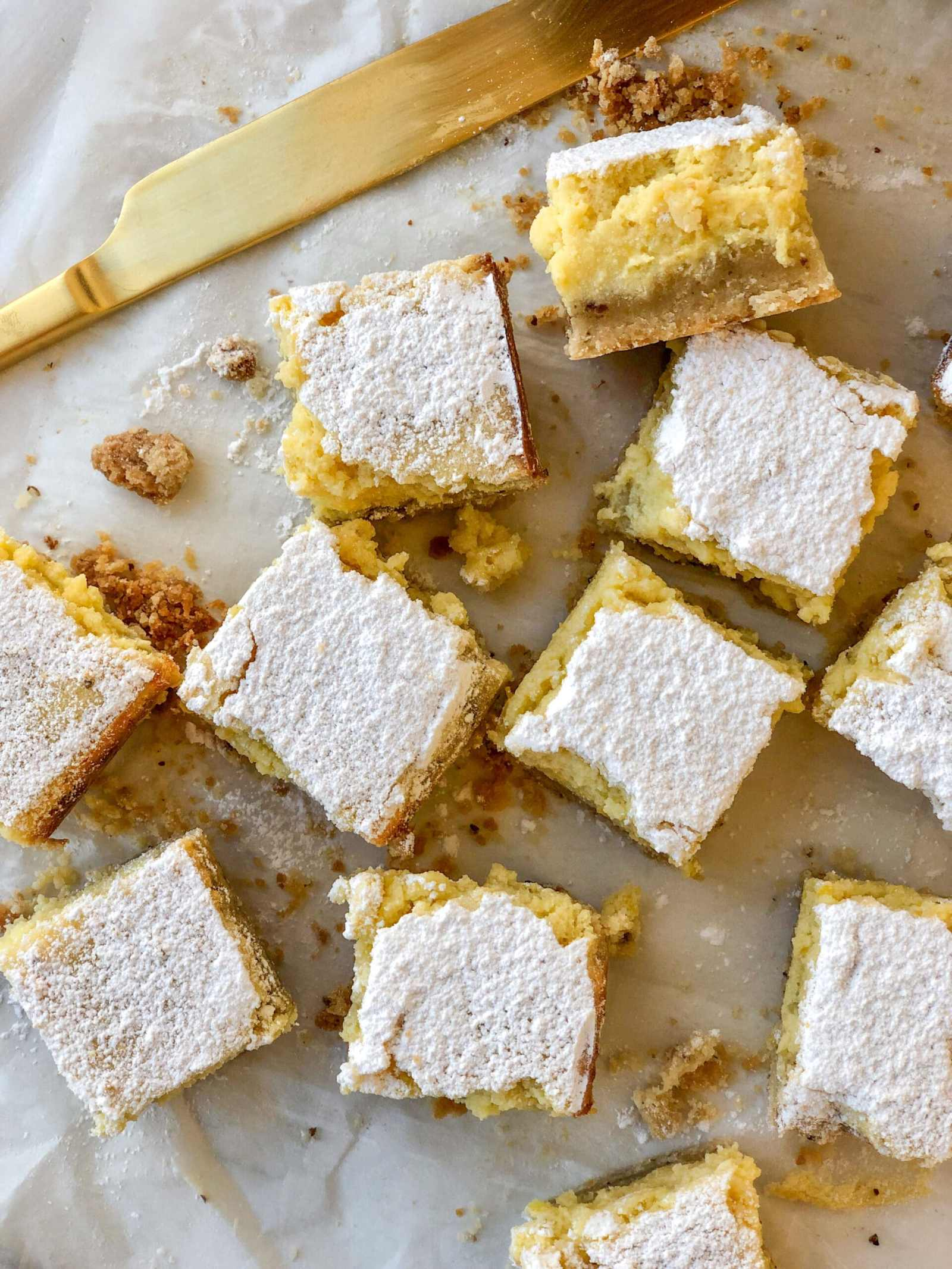 Lemon-Ricotta Bars with Flax Seed Infused Crust