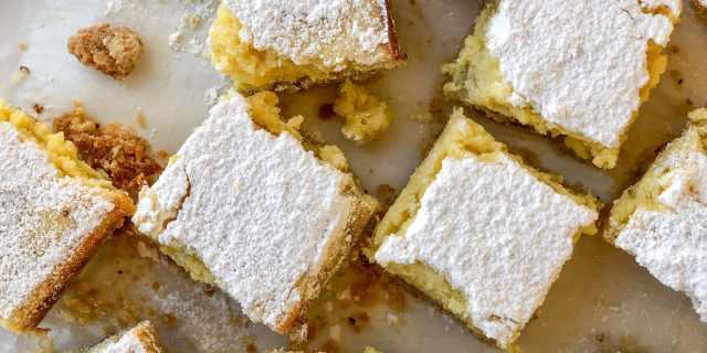 Lemon-Ricotta Bars with Flax Seed Infused Crust