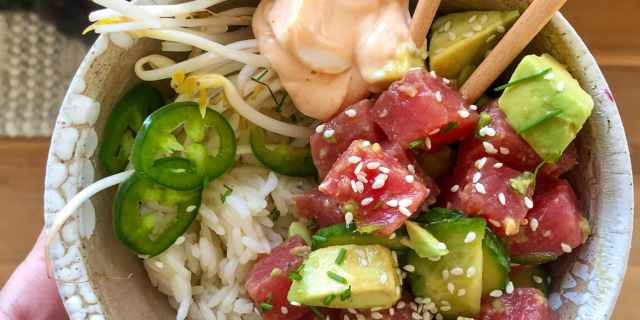 Tuna Poke Bowls, Healthyish