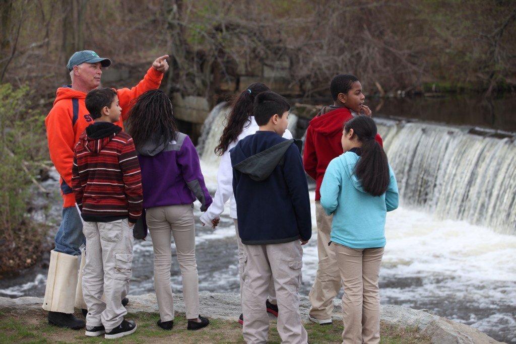 Students learn about fish passage