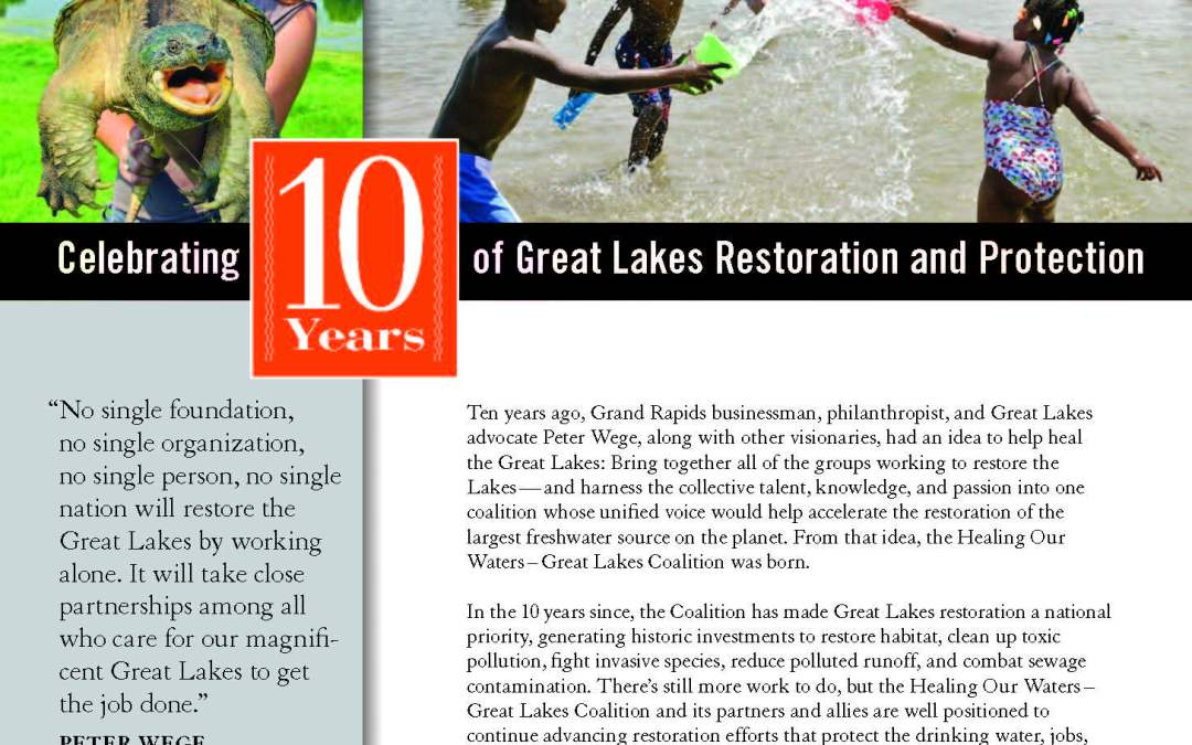Celebrating 10 years of Great Lakes Restoration and Protection