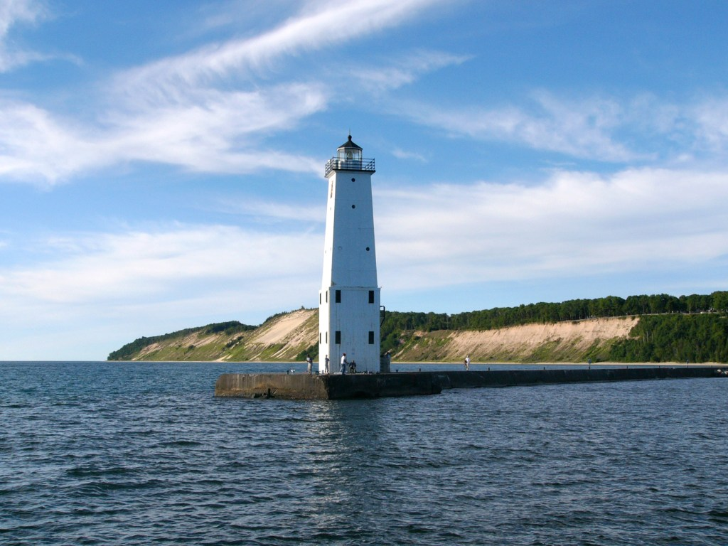 Frankfort North Lighthouse, Lake Michigan