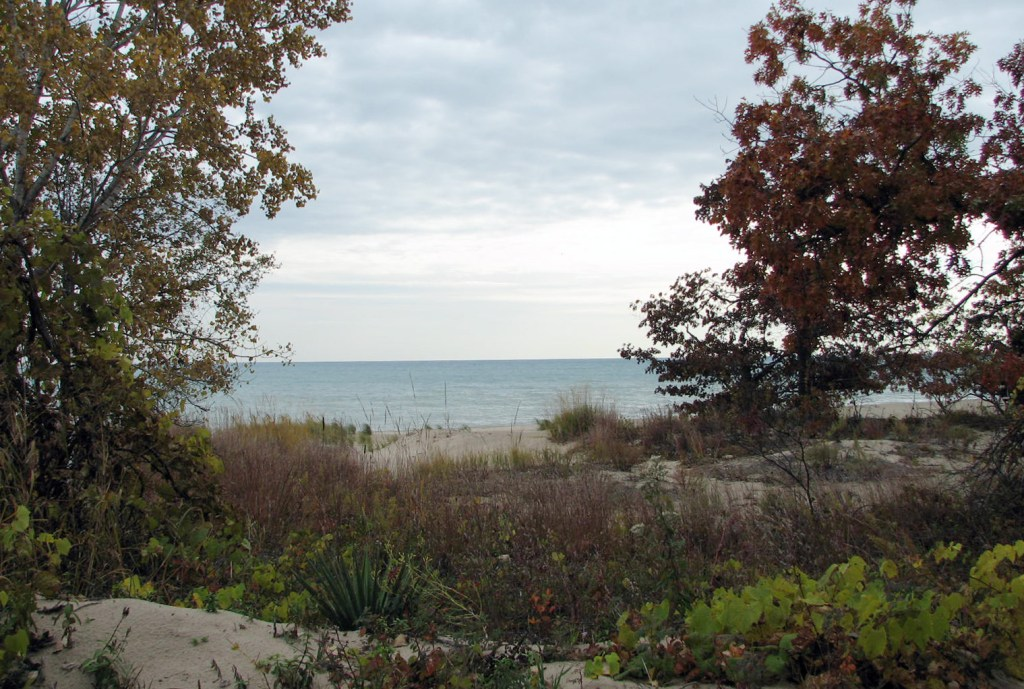 Beach looking out over Lake Michigan