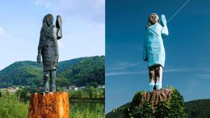 Melania Trump: 'Hideous' statue of First Lady unveiled in Slovenia