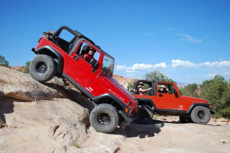 Jeeping in Moab, UT. The best fun you'll have at 3 mph.