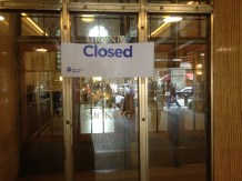 Grand Central Station was closed but as you can see from the reflection there were lots of people walking about.