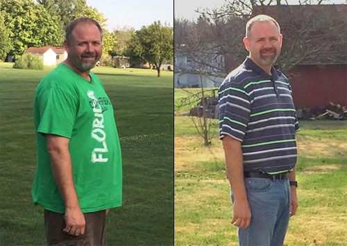 Rob P. has lost 42 pounds. Congratulations Rob on a job well done!