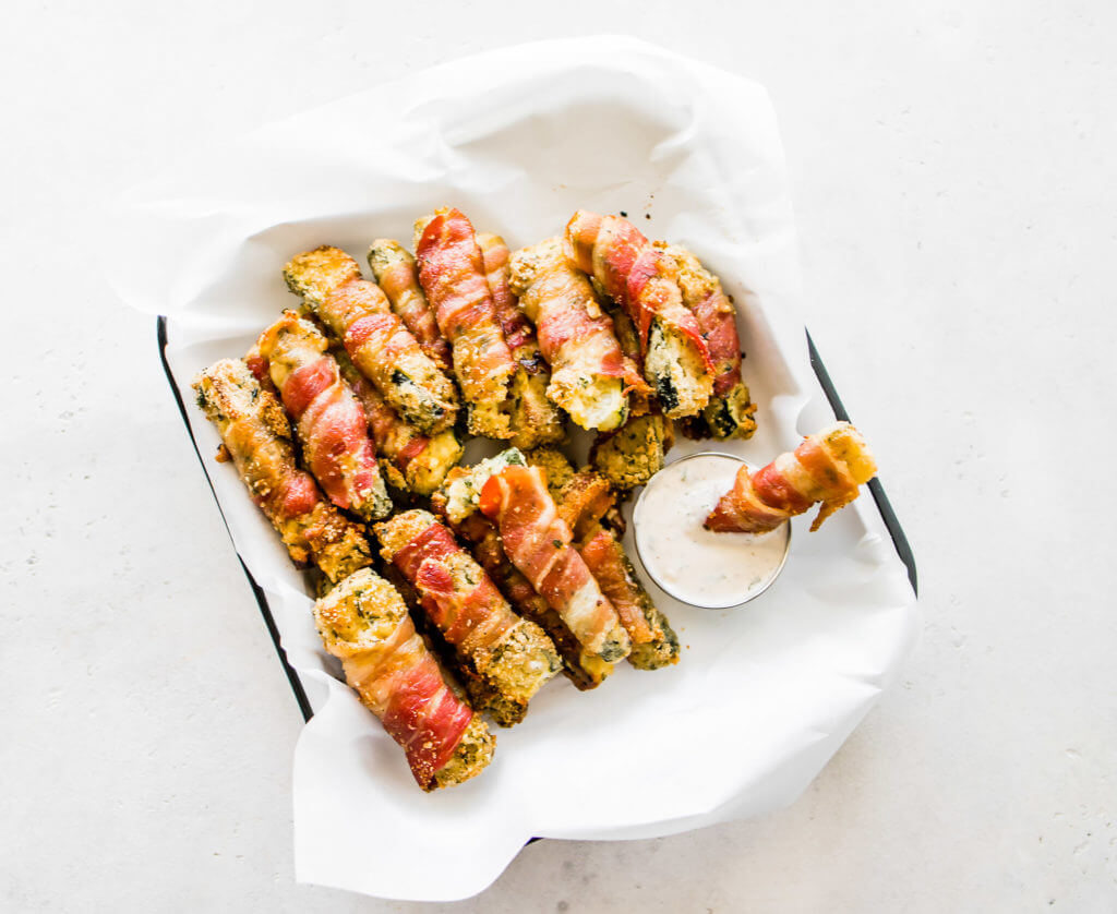 Bacon Wrapped Zucchini Fries