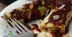 Beef Enchilada Cabbage Rolls